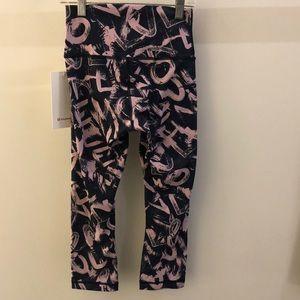 """lululemon athletica Pants - Lululemon pink blue Wunder Under Crop 21"""", sz 4"""